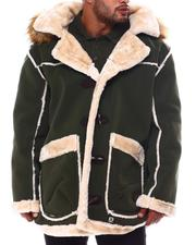 Big & Tall Faves - Faux Shearling Long Hooded Jacket (B&T)-2554203