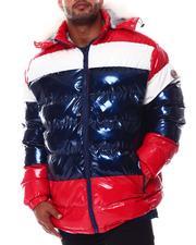Big & Tall Faves - PU Hooded Puffer Jacket (B&T)-2554329