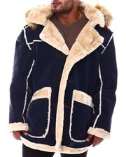 Big & Tall Faves - Faux Shearling Long Hooded Jacket (B&T)-2554525