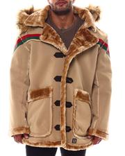 Big & Tall Faves - Faux Shearling Long Hooded Jacket (B&T)-2554551