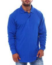 Big & Tall Faves - Long Sleeve Polo Shirt (B&T)-2553846