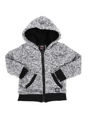 Arcade Styles - Sherpa Lined Zip Up Hoodie (2T-4T)-2551634
