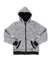 Arcade Styles - Sherpa Lined Zip Up Hoodie (8-18)-2551975