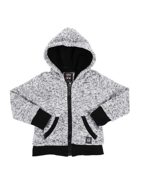 Arcade Styles - Sherpa Lined Zip Up Hoodie (2T-4T)