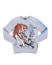 Sweatshirts & Sweaters - Rhinestone Fleece Crew Neck Pullover Sweatshirt (8-20)-2551496