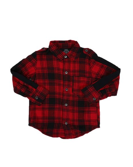 Buffalo - Plaid Woven Shirt (2T-4T)
