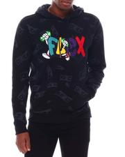 Buyers Picks - FLEX CHENILLE PATCH W/ALLOVER PRINT L/S HOODY-2553314
