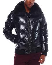 Jordan Craig - Glazed Nylon Removable Faux Fur Color Coat-2555616