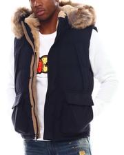 Vests - Puffer Vest w Faux Fur Trim-2555696