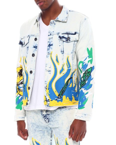 Buyers Picks - Skull and Flames Denim Jacket