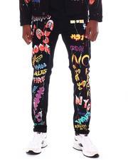 BLVCK - Graffiti Print Skinny Jean-2555435