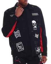 Denim Jackets - SKULL PATCH STUD DENIM JACKET-2555634