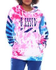 Hoodies - Tie Dye Hoodie W/Print Blessed-2555749