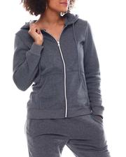 Fashion Lab - Full Zip Fleece Hoodie-2555777