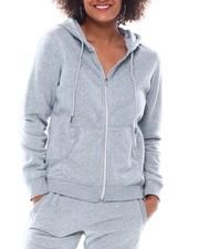 Fashion Lab - Full Zip Fleece Hoodie-2555771
