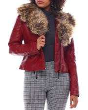 Outerwear - Biker Jacket W/Fox Fur-2552406