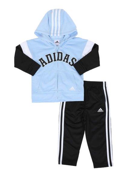 Adidas - 2 Pc Varsity Tricot Jacket & Pants Set (2T-4T)