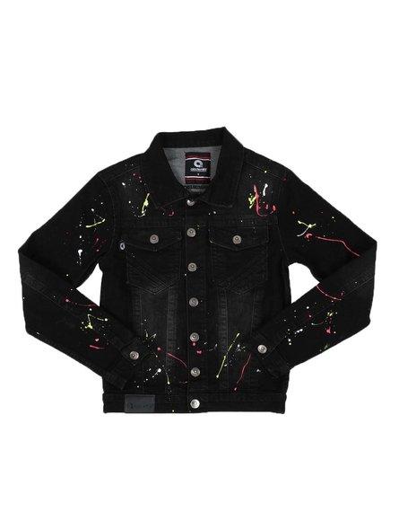 Akademiks - Paint Splatter Denim Jacket (8-20)