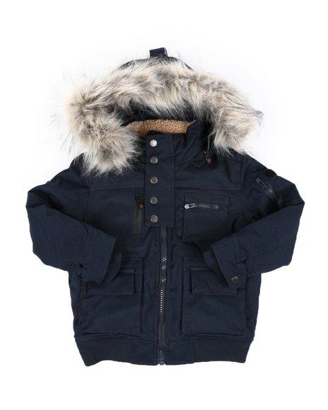 Arcade Styles - Blizzard Snorkel Bomber Jacket W/ Sherpa & Fur Lined Hood (4-7)