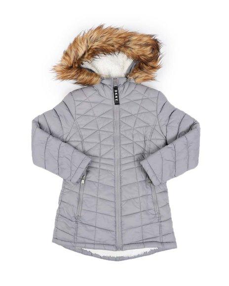 DKNY Jeans - Sherpa Lined Faux Fur Hood Anorak (7-16)