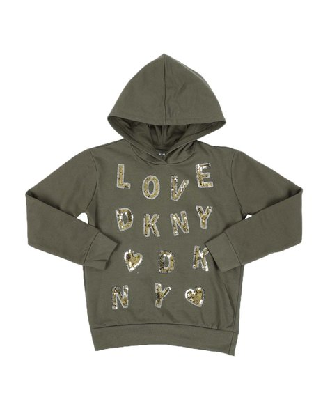 DKNY Jeans - Sequin Letters Hooded Popover (7-16)