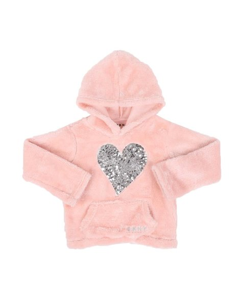 DKNY Jeans - Sequin Heart Woobie Pullover (4-6X)