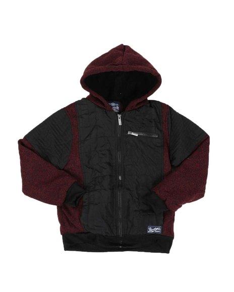Arcade Styles - Sherpa Lined Quilted Fleece Zip Up Hoodie (8-18)