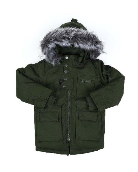 Arcade Styles - Glacier Heavyweight Parka W/ Faux Fur Trim Hood (4-7)