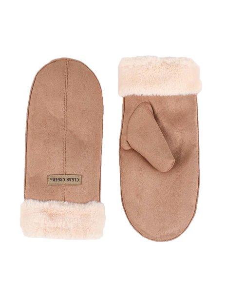 Fashion Lab - Cozy Mittens W/ Faux Fur Cuff