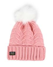 Accessories - Thermal Insulated Cable Knit Beanie W/ Pom-2556115