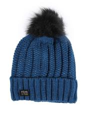 Accessories - Thermal Insulated Cable Knit Beanie W/ Pom-2556133