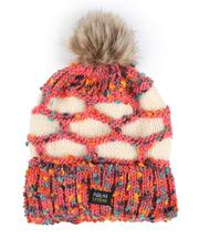 Accessories - Thermal Fleece Lined Insulated Knit Beanie W/ Pom-2556135