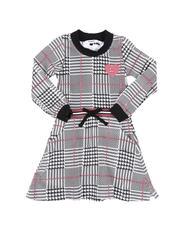 Girls - Plaid Knit Skater Dress (4-6X)-2553107