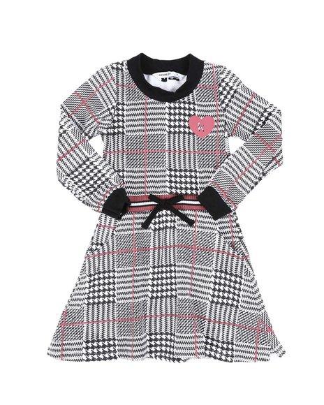 Kensie Girl - Plaid Knit Skater Dress (4-6X)