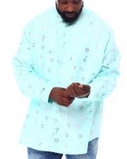 Buyers Picks - Anchor Gold Foil Long Sleeve Woven Shirt (B&T)-2558181