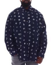 Button-downs - Floral Gold Foil Long Sleeve Woven Shirt (B&T)-2558622