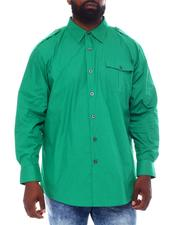 Button-downs - Solid Woven Shirt (B&T)-2558703