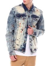 Copper Rivet - Color Paint Dot on Tint Wash Denim Jacket-2555184