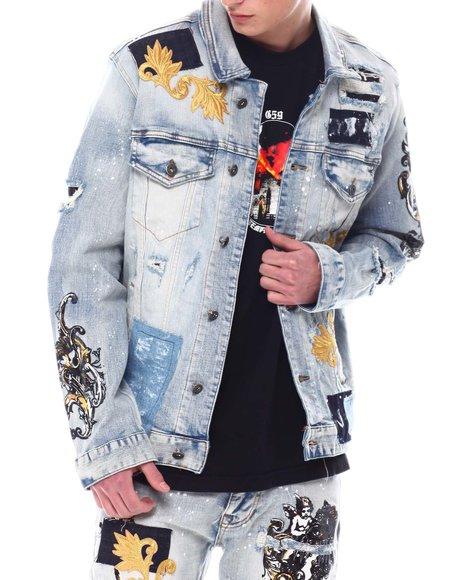 SMOKE RISE - Royal Embellishment Jean Jacket
