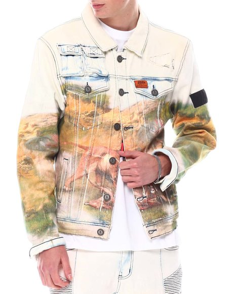 Reason - Lion Denim Jacket