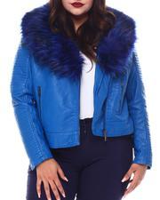 Red Fox - Plus Biker Jacket W/Fox Fur-2556057