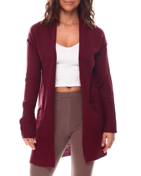 Fashion Lab - Cardigan With Front Pockets