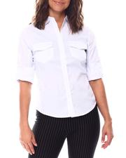 Tops - Roll Cuff 2 Pockets Button Down Shirts-2559641