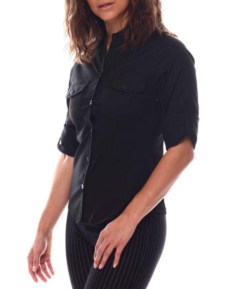Fashion Lab - Roll Cuff 2 Pockets Button Down Shirts