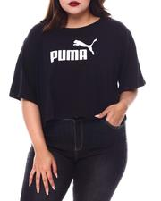 Plus Size - Ess+ Cropped Logo Tee (Plus) -2552663