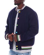 SWITCH - Wool Varsity Jacket w Multi Color Snap Button-2561090