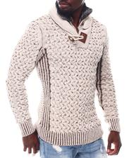 Stylist Picks - Toggle Shawl Collar Sweater with Faux Fur Zip Neck-2561997