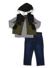 Buffalo - 3 Pc Puffer Vest, Long Sleeve T-Shirt & Jeans Set (2T-4T)-2553383