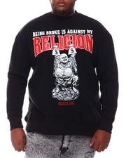 Men - Being Broke Is Against My Religion Sweatshirt (B&T)-2561188