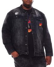 Denim Jackets - Rasta Man Denim Jacket (B&T)-2561300